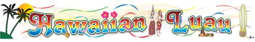 Hawaiian Luau Banners
