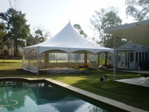 Tentnology Matrix Marquee tent by the pool