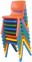 Kids chair blue 2