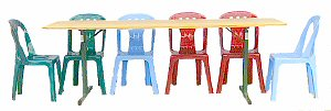 Kids table green