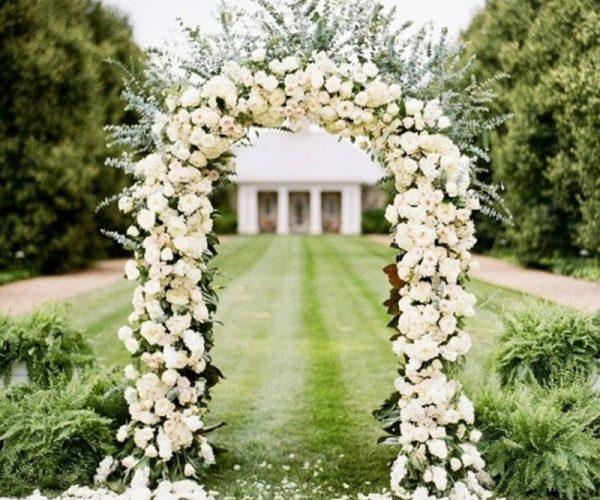 White Wedding Arch Hire_03