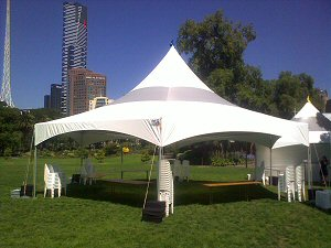 Matrix Marquee Tent on the Beach