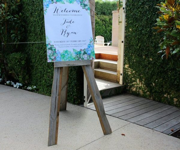 Rustic Easel With Custom Print