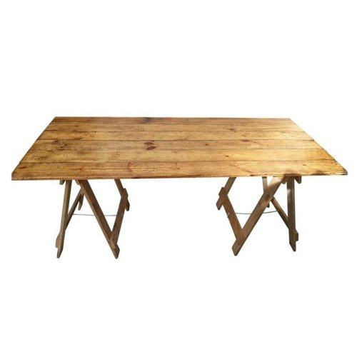 Rustic Carpenters Treste Table Hire_01